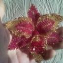 Орхидея пурпур и золото3